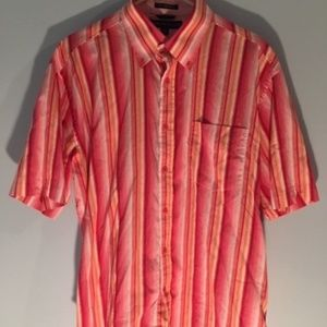 Tommy Hilfiger Shirts - Tommy Hilfiger Vintage Striped Pink Button Up L/XL